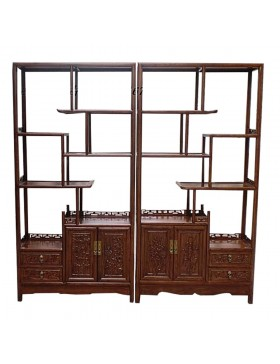 Etagère chinoise destructurée rectangle brune 200x35x200