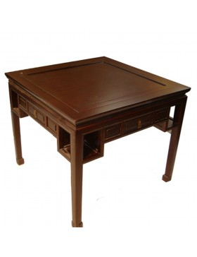 Table chinoise en orme 4 tiroirs