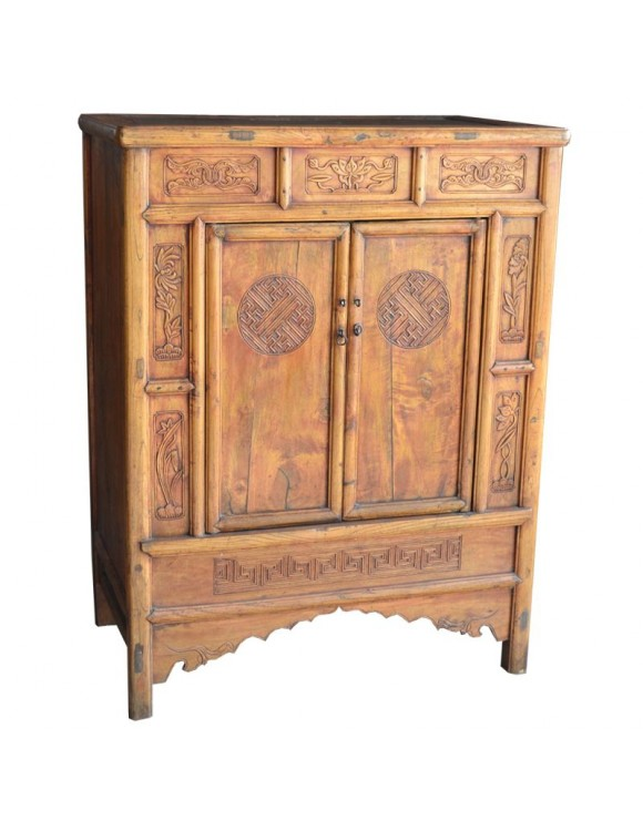 buffet chinois ancien haut couleur bois. Black Bedroom Furniture Sets. Home Design Ideas