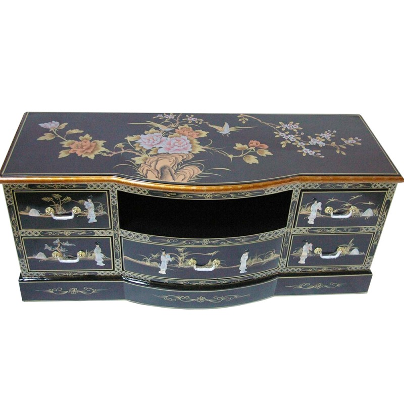meuble chinois tv laqu l122cm. Black Bedroom Furniture Sets. Home Design Ideas