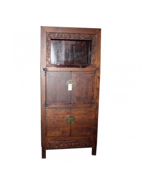 Armoire chinoise ancienne 4 portes en accacia