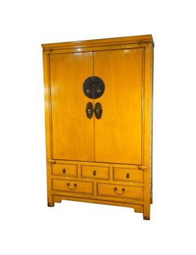 Armoire de mariage chinoise jaune