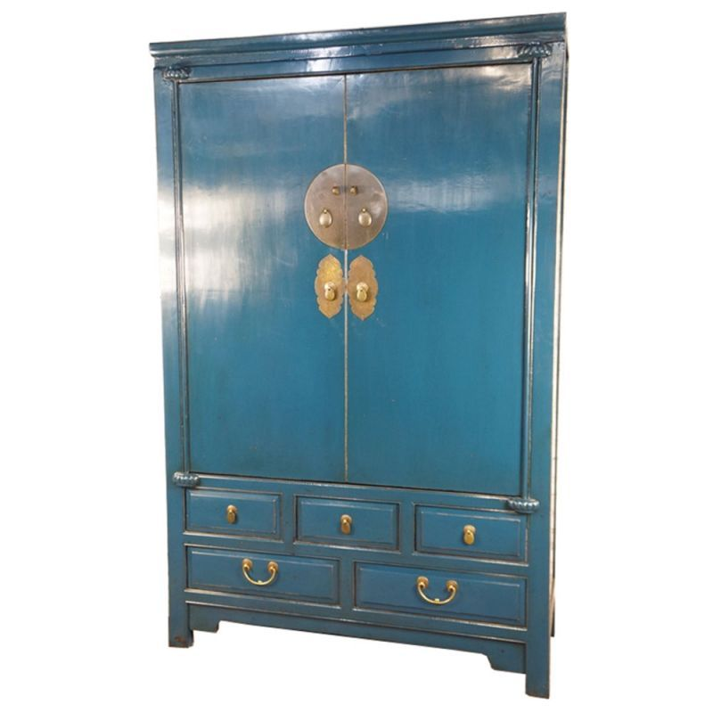 armoire de mariage chinoise bleue. Black Bedroom Furniture Sets. Home Design Ideas