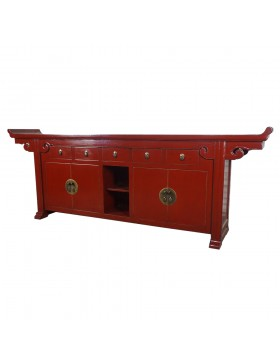 Buffet chinois temple rouge