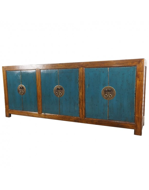 Buffet chinois portes bleues