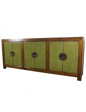 Buffet chinois portes vertes