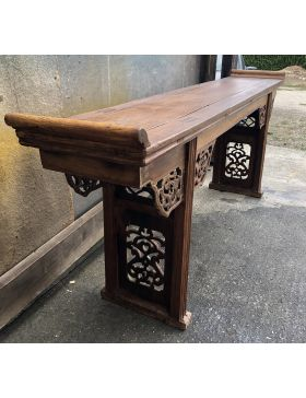Grande console chinoise antique