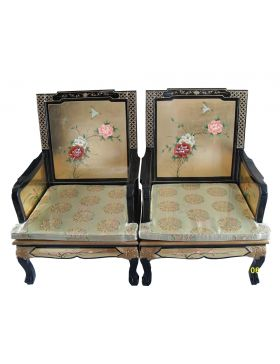 Fauteuil chinois laqué